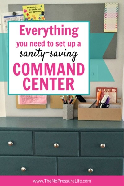 Simple Command Center - how to DIY your family command center