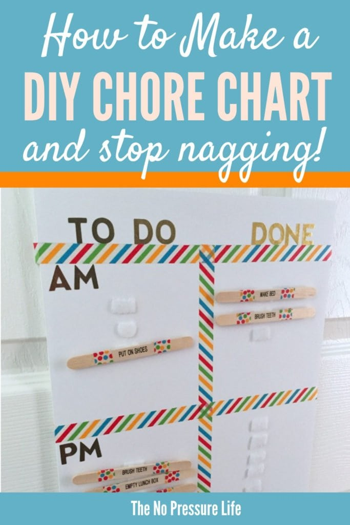 easy DIY chore chart for kids - how to make a DIY chore chart