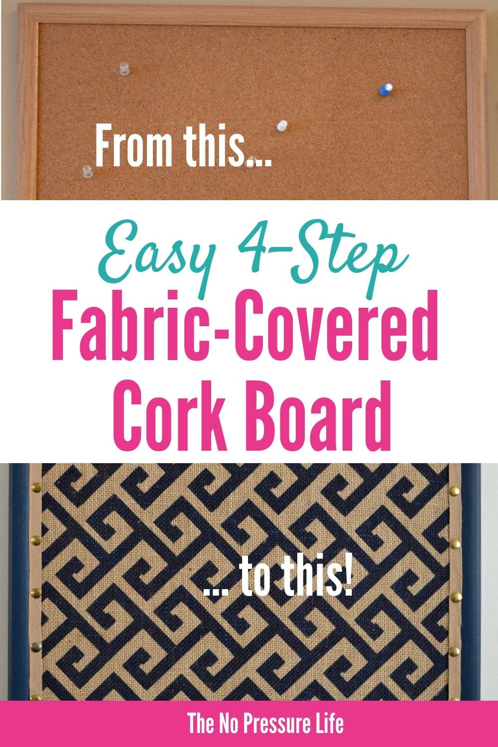 learn how to cover a cork board with fabric