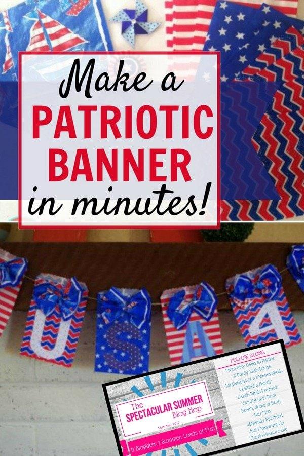 DIY Patriotic Banner