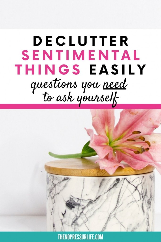 Learn how to declutter sentimental items