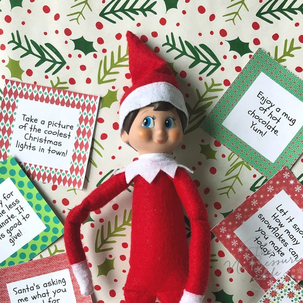 printable Elf on the Shelf advent activities