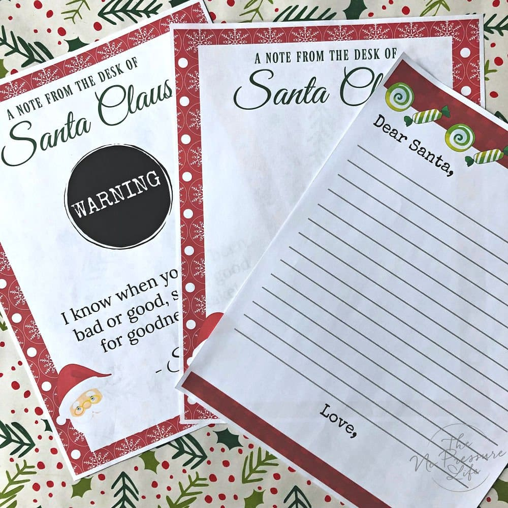 Elf on the Shelf printable pack includes Printable letter to Santa and warning letter from Santa