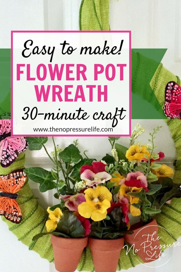 How to make a summer wreath with flower pots and butterflies