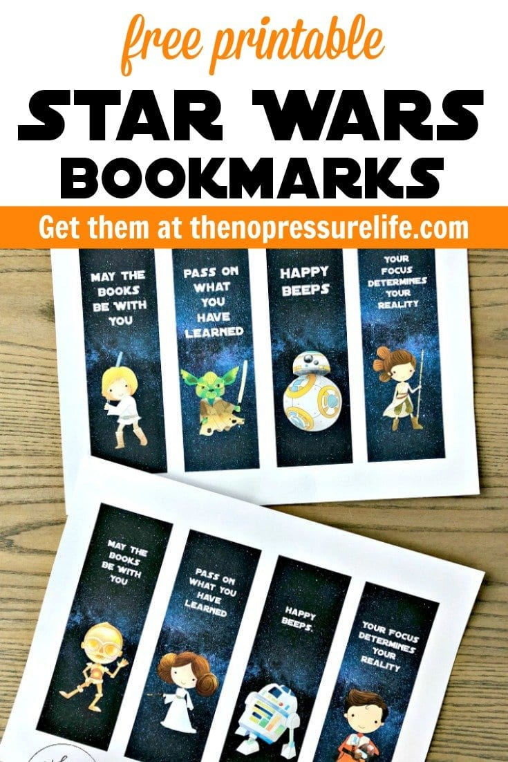 photo relating to Star Wars Bookmark Printable referred to as Cost-free Printable Star Wars Bookmarks Supplying Your Most loved