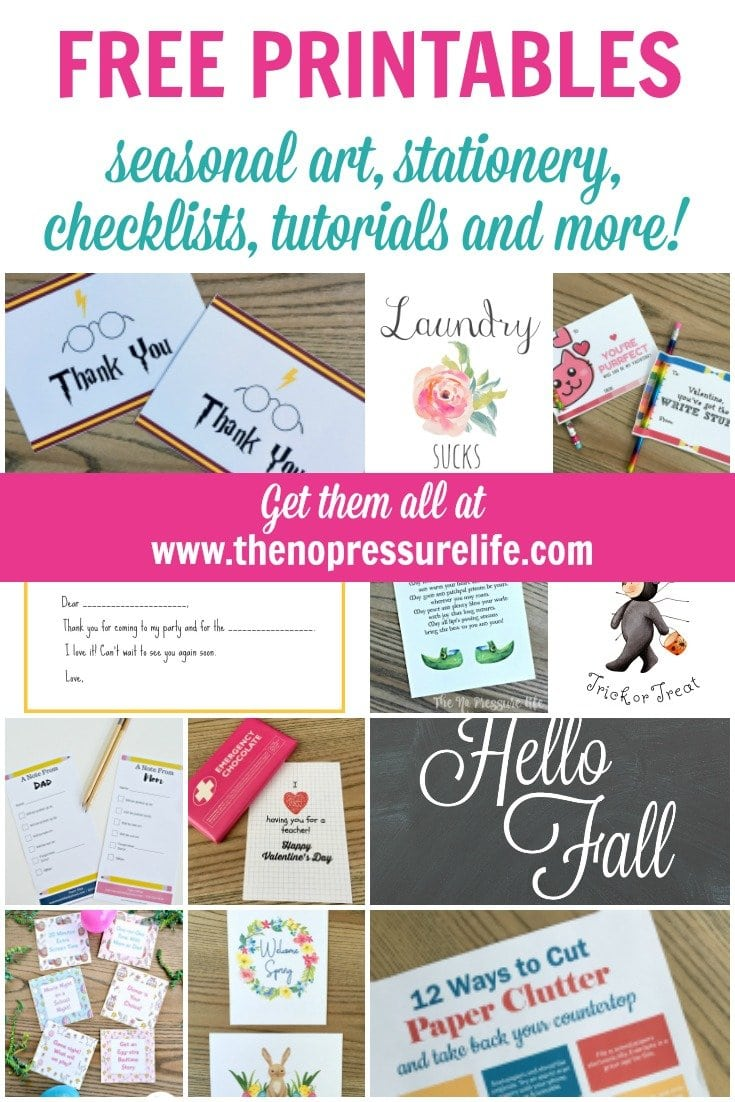 Free printable art, printable stationery, organization printable PDFs and more.