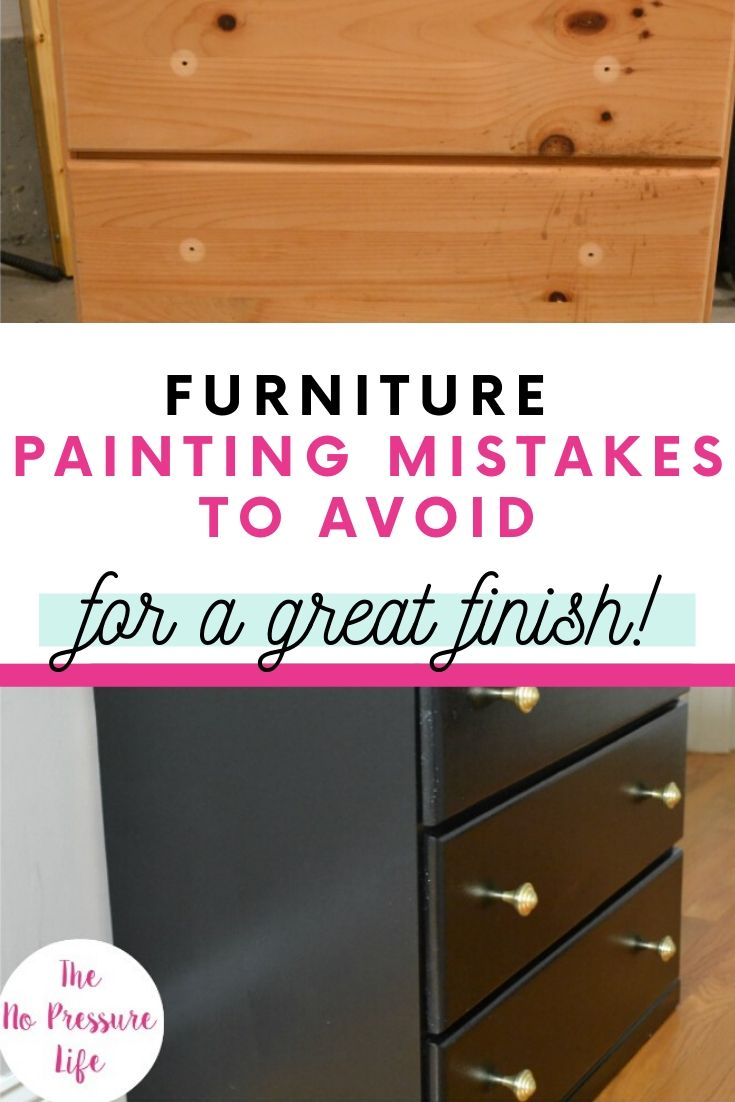 Common furniture painting mistakes to avoid