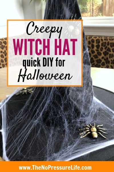 Decorated Witch Hat - Easy DIY for a Last-Minute Halloween Costume