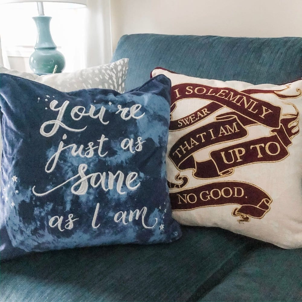Harry Potter inspired throw pillows are some great Harry Potter gift ideas for adults