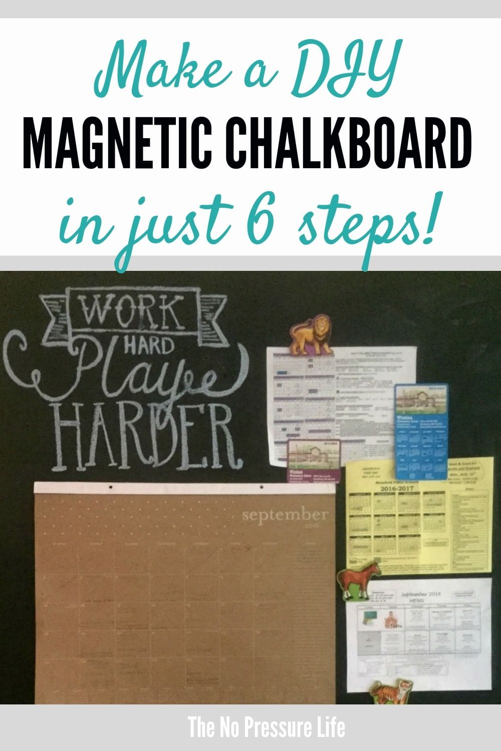 magnetic chalkboard wall tutorial