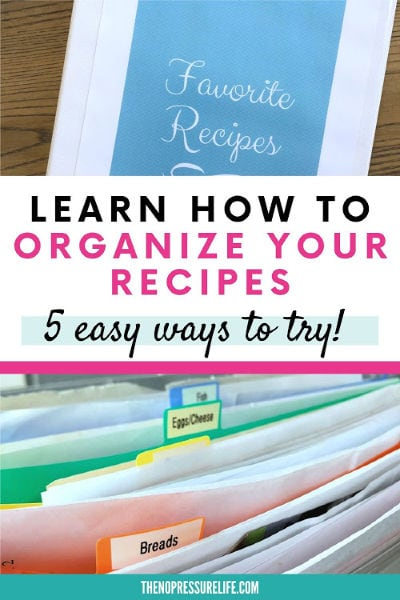 organized loose recipes