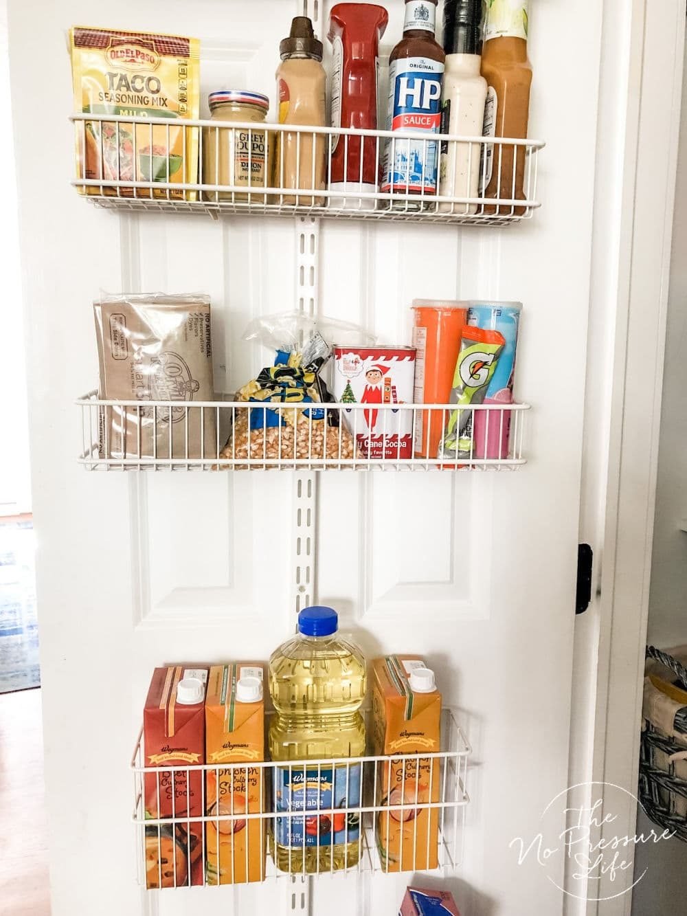 Pantry Door Organizer - Elfa storage system for canned food and more