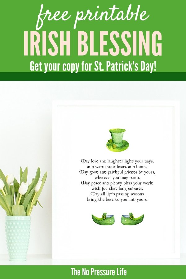 photograph regarding Printable Irish Blessing called Totally free St. Patricks Working day Printable Artwork: An Irish Blessing