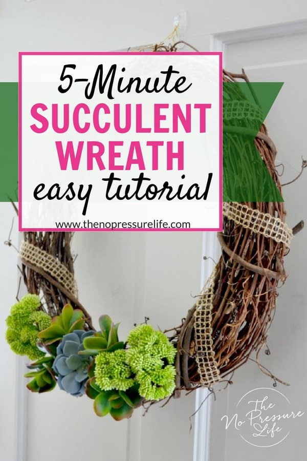 How to make a DIY faux succulent wreath - easy tutorial