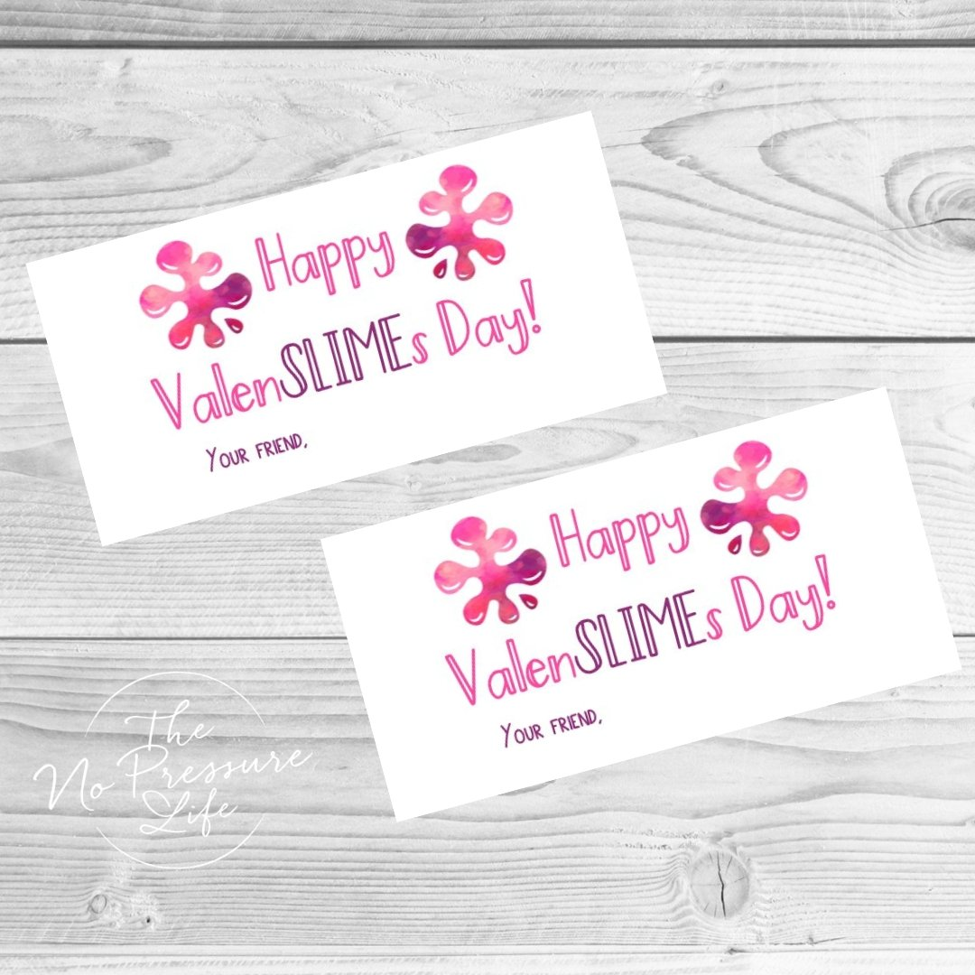 Valentine's Day slime labels - free printable