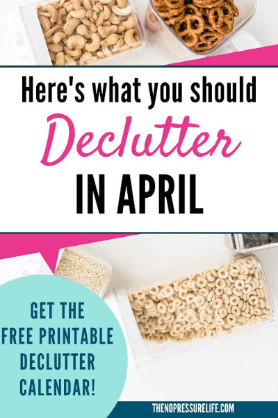 What to Declutter in April + Free printable declutter calendar