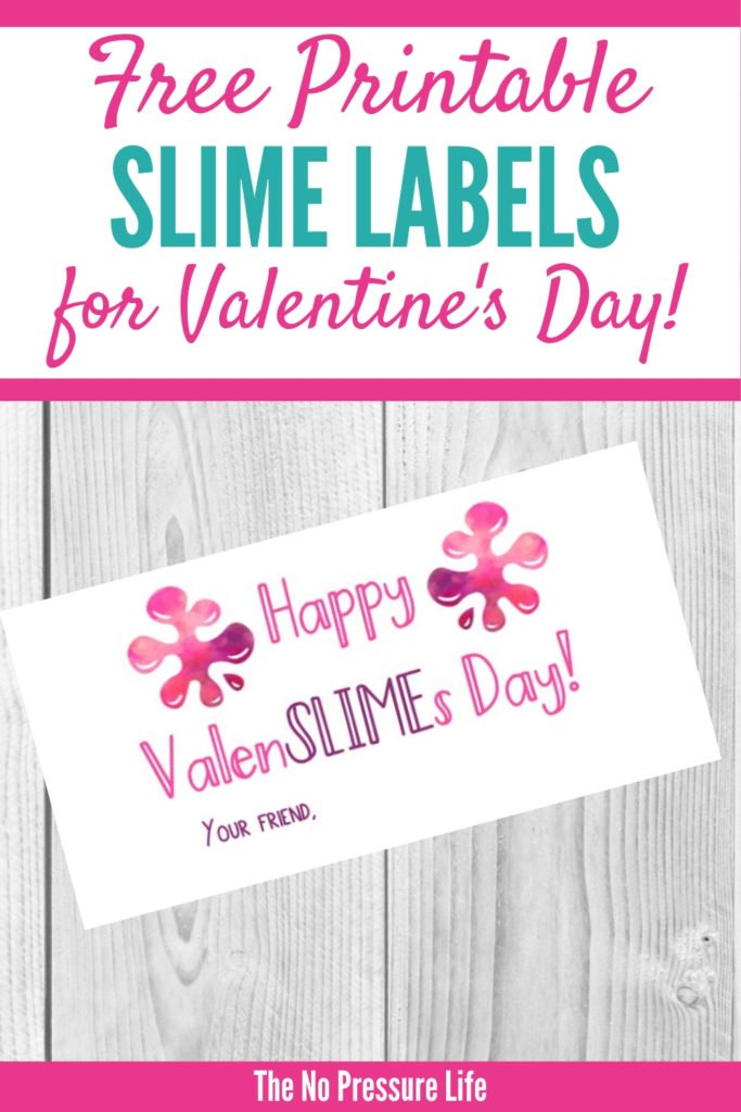 free printable Valentine slime labels