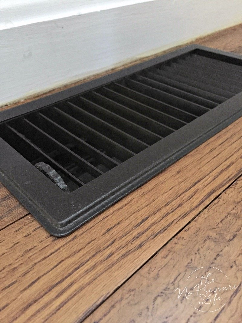 spray painted floor vent cover